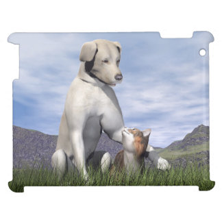 Dog and cat friendship iPad covers
