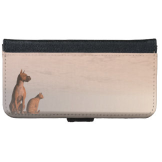 Dog and cat friendship iPhone 6 wallet case