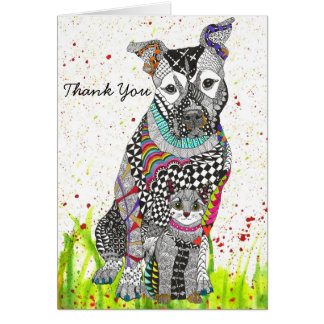 Dog and Cat Greeting Card