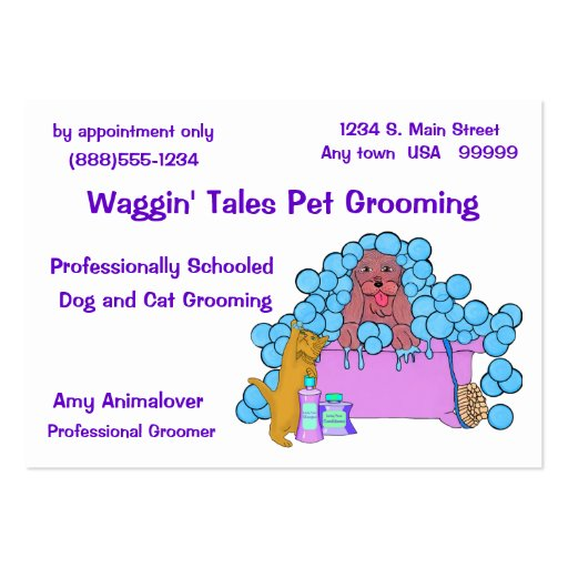 Dog And Cat Grooming Business And Appointment Card Business Card Templates