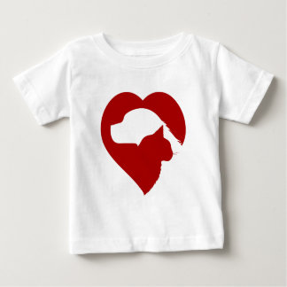 dog and cat heart baby T-Shirt