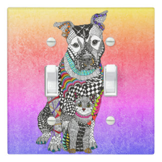 Dog and Cat Light Switch Cover