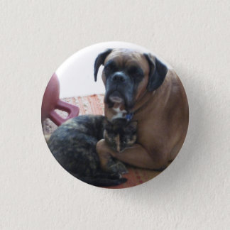 Dog and Cat Love button