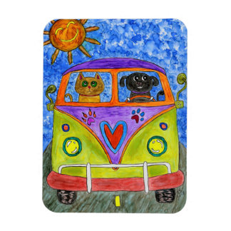 "Dog and Cat Magnet 3""x4"""