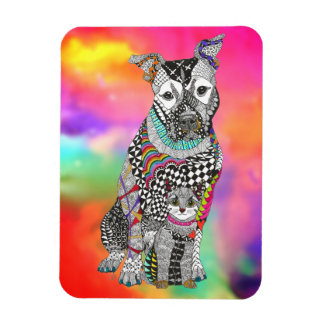 "Dog and Cat Magnet 3""x4"" (You can Customize)"