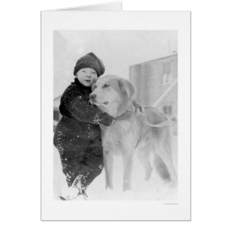 Dog and Child Nome Alaska 1926 Card