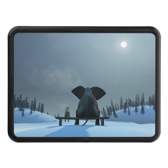 Dog and Elephant Friends Hitch Cover