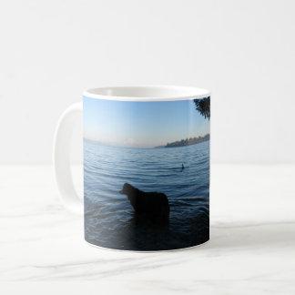 Dog and Mt. Rainier from Penrose Coffee Mug