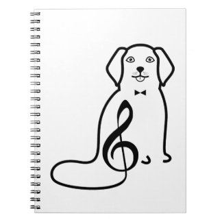 DOG AND MUSIC NOTE NOTEBOOKS