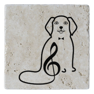 DOG AND MUSIC NOTE TRIVET