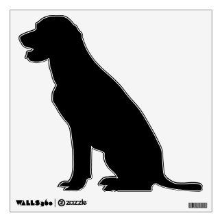 dog animal silhouette wall decal black labrador