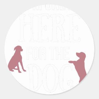 Dog Anxiety Socially Awkward Party Shirt Classic Round Sticker