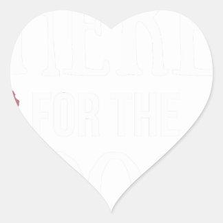Dog Anxiety Socially Awkward Party Shirt Heart Sticker