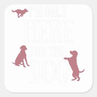 Dog Anxiety Socially Awkward Party Shirt Square Sticker