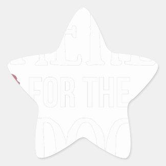 Dog Anxiety Socially Awkward Party Shirt Star Sticker