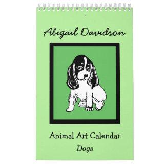 Dog Art Calendar: Illustrated by Abigail Davidson Wall Calendar