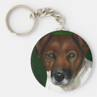 Dog Art - Jack Russell Terrier - Otis Keychain