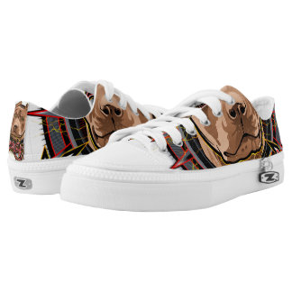 dog art radical pit bull brown and red Low-Top sneakers