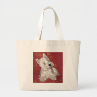 Dog Art: the Westie Large Tote Bag