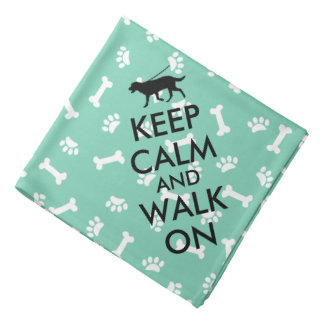 Dog Bandana Keep Calm and Walk On Dog Walking