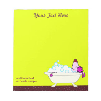 Dog Bath for Pet Groomers - yellow Notepad