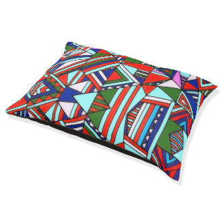 Dog Bed Colorful Pattern