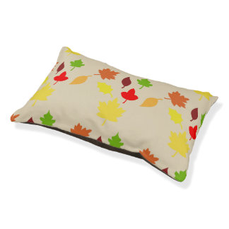 dog bed fall leaves design