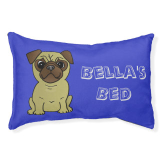 Dog Bed for The Pug in your life! Personalize Name Small Dog Bed