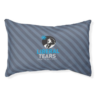 Dog Bed - Liberal Tears Gray Stripes Small Dog Bed