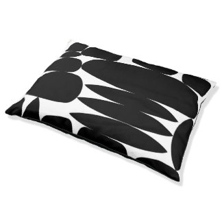 Dog Bed with Black and White Print
