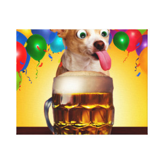dog beer-funny dog-crazy dog-cute dog-pet dog canvas print