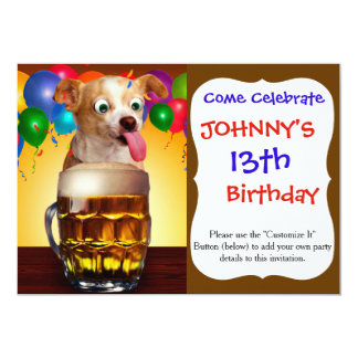dog beer-funny dog-crazy dog-cute dog-pet dog card