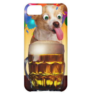 dog beer-funny dog-crazy dog-cute dog-pet dog case for iPhone 5C