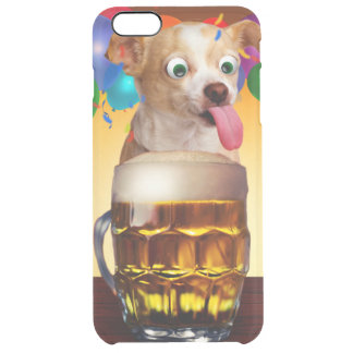 dog beer-funny dog-crazy dog-cute dog-pet dog clear iPhone 6 plus case