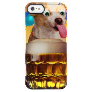 dog beer-funny dog-crazy dog-cute dog-pet dog clear iPhone SE/5/5s case