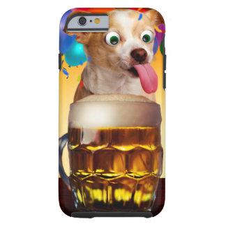 dog beer-funny dog-crazy dog-cute dog-pet dog tough iPhone 6 case