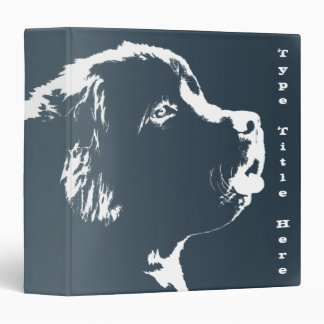 Dog Binder Newfoundland Dog Art Photo Albums