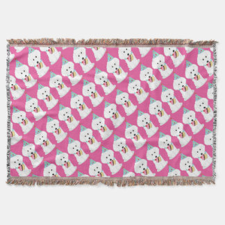 Dog Birthday Throw Blanket