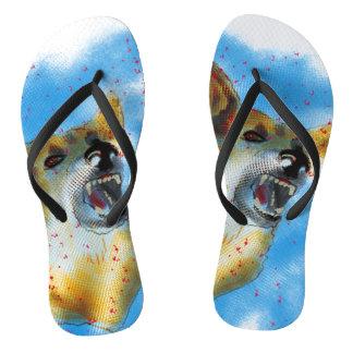Dog Bite Flip Flops