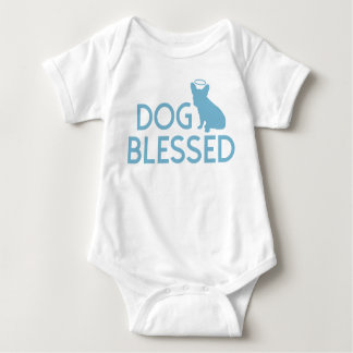 """Dog Blessed"" French Bulldog Angel Infant Crawler Baby Bodysuit"