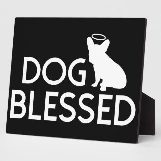 """""""Dog Blessed"""" French Bulldog Angel Plaque"""