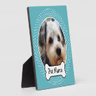 Dog Bone and Blue Polka Dot Pet Photo Frame