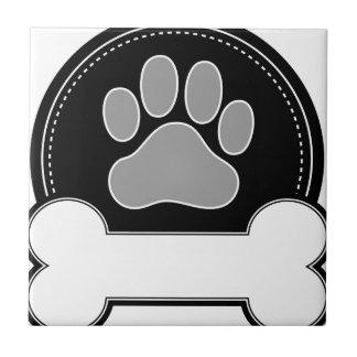 Dog Bone and Paw Tile