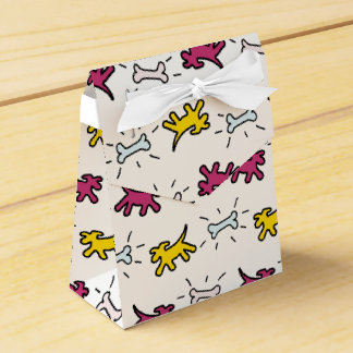 Dog Bone Graffiti Style Choose Colour Favour Box 2 Favor Boxes