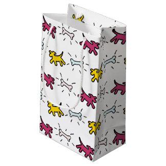 Dog Bone Graffiti Style Choose Colour M Gift Bag 2