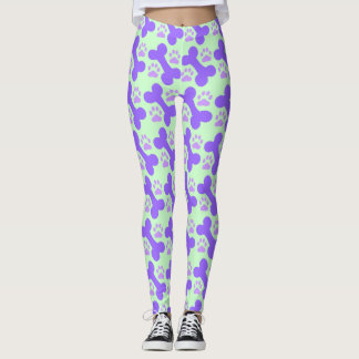 Dog Bone & Paw Leggings