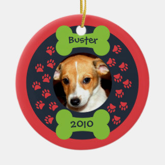Dog Bone Photo Ornament