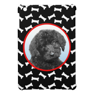 Dog Bone Print Custom Pet Photo Black White iPad Mini Case