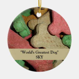 Dog Bones Round Ceramic Ornament