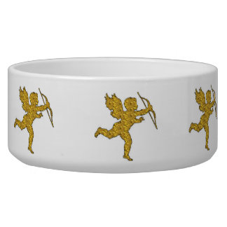 Dog Bowl Cupid Gold